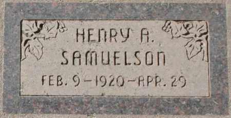 SAMUELSON, HENRY ANTON - Maricopa County, Arizona   HENRY ANTON SAMUELSON - Arizona Gravestone Photos