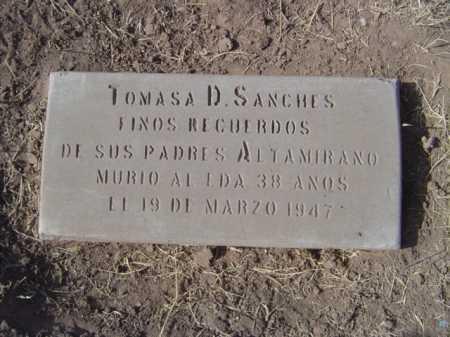 ALTAMIRANO SANCHEZ, TOMASA - Maricopa County, Arizona | TOMASA ALTAMIRANO SANCHEZ - Arizona Gravestone Photos