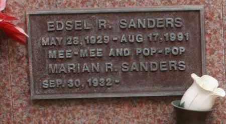 SANDERS, EDSEL R. - Maricopa County, Arizona | EDSEL R. SANDERS - Arizona Gravestone Photos