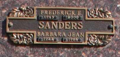 SANDERS, BARBARA JEAN - Maricopa County, Arizona | BARBARA JEAN SANDERS - Arizona Gravestone Photos