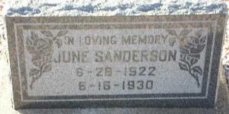 SANDERSON, JUNE - Maricopa County, Arizona   JUNE SANDERSON - Arizona Gravestone Photos