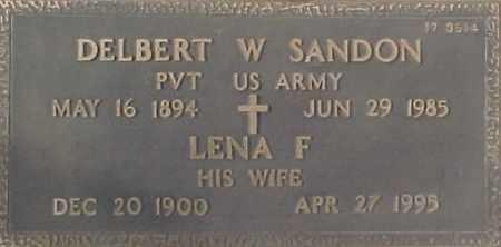 SANDON, LENA F. - Maricopa County, Arizona | LENA F. SANDON - Arizona Gravestone Photos