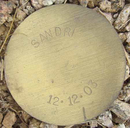 SANDRI, NOT GIVEN - Maricopa County, Arizona | NOT GIVEN SANDRI - Arizona Gravestone Photos