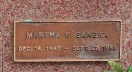SANERA, MARTHA P. - Maricopa County, Arizona   MARTHA P. SANERA - Arizona Gravestone Photos