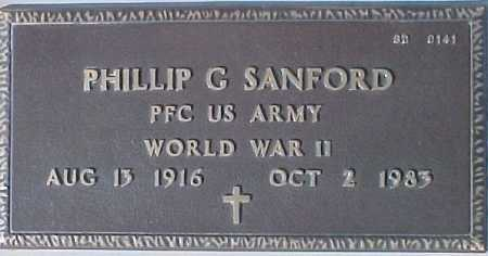 SANFORD, PHILLIP G. - Maricopa County, Arizona | PHILLIP G. SANFORD - Arizona Gravestone Photos