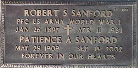 SANFORD, ROBERT S - Maricopa County, Arizona | ROBERT S SANFORD - Arizona Gravestone Photos