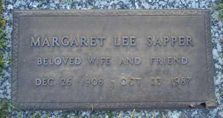SAPPER, MARGARET LEE - Maricopa County, Arizona   MARGARET LEE SAPPER - Arizona Gravestone Photos