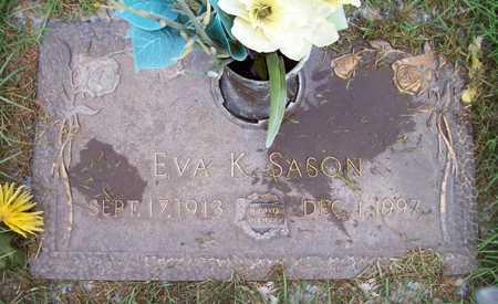 SASON, EVA K. - Maricopa County, Arizona | EVA K. SASON - Arizona Gravestone Photos