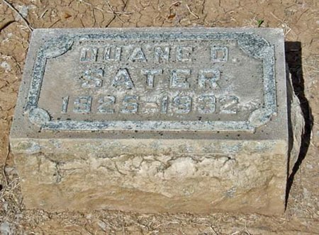 SATER, DUANE D. - Maricopa County, Arizona   DUANE D. SATER - Arizona Gravestone Photos