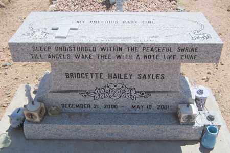 SAYLES, BRIDGETTE HAILEY - Maricopa County, Arizona | BRIDGETTE HAILEY SAYLES - Arizona Gravestone Photos