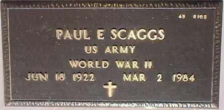 SCAGGS, PAUL E. - Maricopa County, Arizona | PAUL E. SCAGGS - Arizona Gravestone Photos
