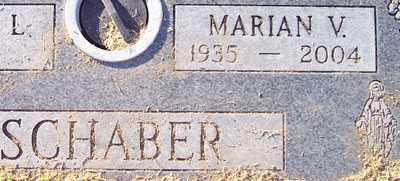SCHABER, MARIAN V. - Maricopa County, Arizona | MARIAN V. SCHABER - Arizona Gravestone Photos