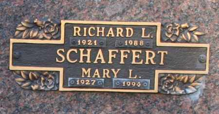 SCHAFFERT, MARY L - Maricopa County, Arizona | MARY L SCHAFFERT - Arizona Gravestone Photos