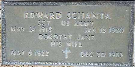 SCHANTA, EDWARD - Maricopa County, Arizona | EDWARD SCHANTA - Arizona Gravestone Photos