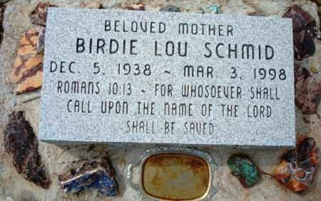 SCHMID, BIRDIE LOU - Maricopa County, Arizona | BIRDIE LOU SCHMID - Arizona Gravestone Photos