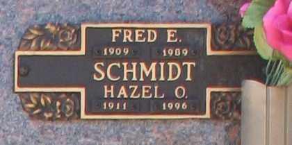 SCHMIDT, FRED E - Maricopa County, Arizona | FRED E SCHMIDT - Arizona Gravestone Photos