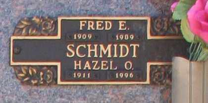 SCHMIDT, HAZEL O - Maricopa County, Arizona | HAZEL O SCHMIDT - Arizona Gravestone Photos