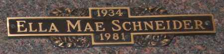 SCHNEIDER, ELLA MAE - Maricopa County, Arizona | ELLA MAE SCHNEIDER - Arizona Gravestone Photos