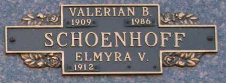 SCHOENHOFF, ELMYRA V - Maricopa County, Arizona | ELMYRA V SCHOENHOFF - Arizona Gravestone Photos
