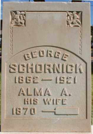 SCHORNICK, GEORGE - Maricopa County, Arizona   GEORGE SCHORNICK - Arizona Gravestone Photos