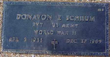 SCHRUM, DONAVON E. - Maricopa County, Arizona | DONAVON E. SCHRUM - Arizona Gravestone Photos