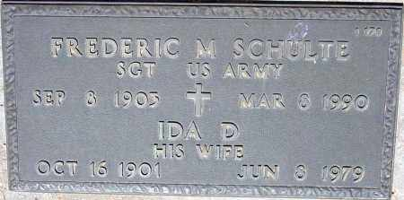 SCHULTE, IDA D. - Maricopa County, Arizona | IDA D. SCHULTE - Arizona Gravestone Photos
