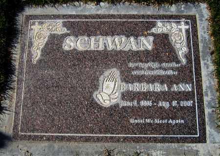SCHWAN, BARBARA ANN - Maricopa County, Arizona   BARBARA ANN SCHWAN - Arizona Gravestone Photos
