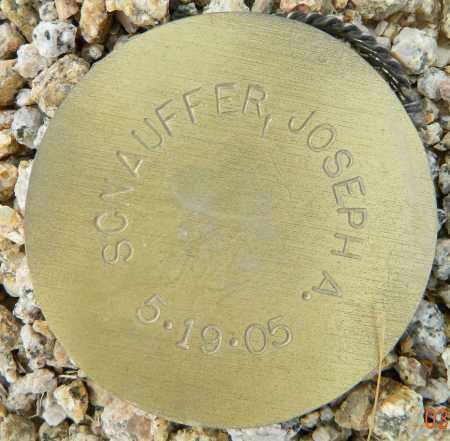 SCNAUFFER, JOSEPH A. - Maricopa County, Arizona | JOSEPH A. SCNAUFFER - Arizona Gravestone Photos
