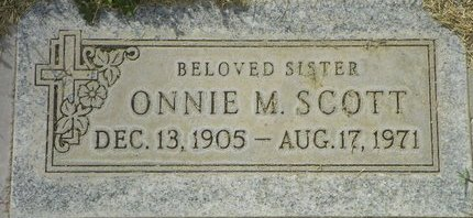 SCOTT, ONNIE M - Maricopa County, Arizona | ONNIE M SCOTT - Arizona Gravestone Photos