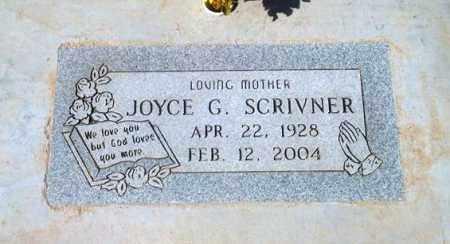 SCRIVNER, JOYCE G. - Maricopa County, Arizona | JOYCE G. SCRIVNER - Arizona Gravestone Photos