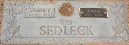 SEDLECK, ANDREW E. - Maricopa County, Arizona | ANDREW E. SEDLECK - Arizona Gravestone Photos