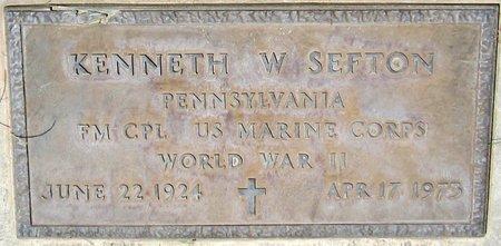 SEFTON, KENNETH W. - Maricopa County, Arizona   KENNETH W. SEFTON - Arizona Gravestone Photos