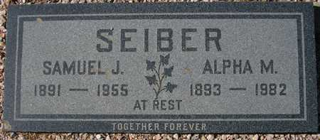 SEIBER, ALPHA M. - Maricopa County, Arizona | ALPHA M. SEIBER - Arizona Gravestone Photos