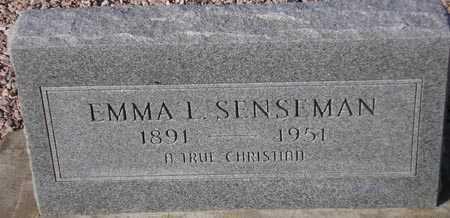SENSEMAN, EMMA L. - Maricopa County, Arizona   EMMA L. SENSEMAN - Arizona Gravestone Photos