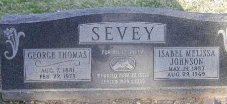 JOHNSON SEVEY, ISABEL MELISSA - Maricopa County, Arizona   ISABEL MELISSA JOHNSON SEVEY - Arizona Gravestone Photos