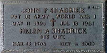 SHADRICK, JOHN P. - Maricopa County, Arizona | JOHN P. SHADRICK - Arizona Gravestone Photos