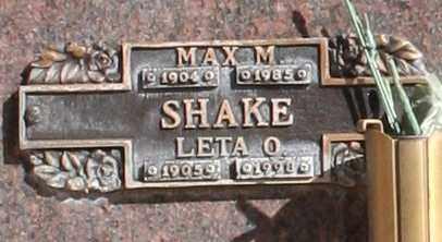 SHAKE, LETA O - Maricopa County, Arizona | LETA O SHAKE - Arizona Gravestone Photos