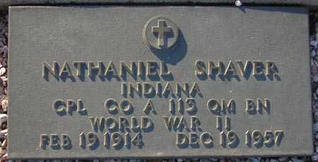 SHAVER, NATHANIEL - Maricopa County, Arizona | NATHANIEL SHAVER - Arizona Gravestone Photos