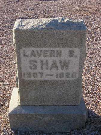 SHAW, LAVERNE E. - Maricopa County, Arizona | LAVERNE E. SHAW - Arizona Gravestone Photos