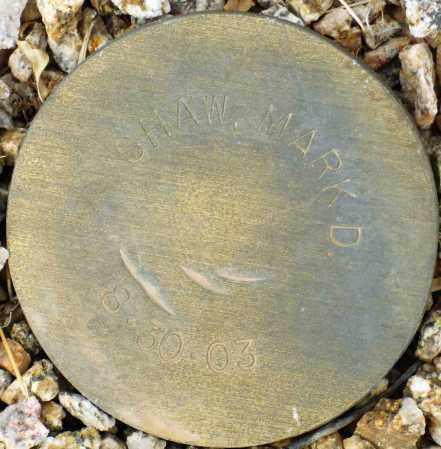 SHAW, MARK D. - Maricopa County, Arizona | MARK D. SHAW - Arizona Gravestone Photos