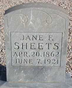 SHEETS, JANE F. - Maricopa County, Arizona   JANE F. SHEETS - Arizona Gravestone Photos