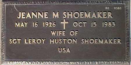 SHOEMAKER, JEANNE M. - Maricopa County, Arizona | JEANNE M. SHOEMAKER - Arizona Gravestone Photos