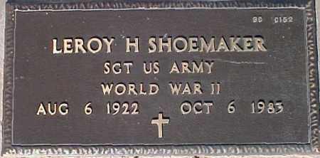 SHOEMAKER, LEROY H. - Maricopa County, Arizona | LEROY H. SHOEMAKER - Arizona Gravestone Photos