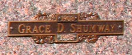 SHUMWAY, GRACE D - Maricopa County, Arizona | GRACE D SHUMWAY - Arizona Gravestone Photos