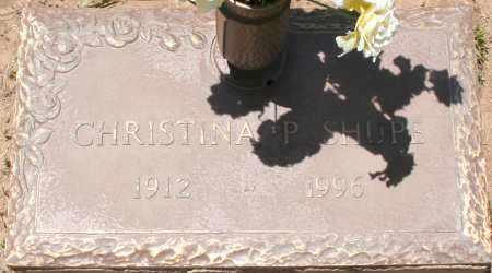 SHUPE, CHRISTINA P. - Maricopa County, Arizona | CHRISTINA P. SHUPE - Arizona Gravestone Photos