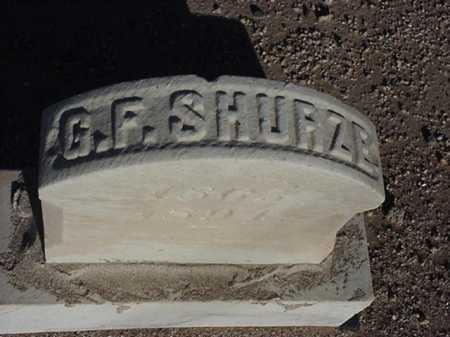 SHURZE, G F - Maricopa County, Arizona | G F SHURZE - Arizona Gravestone Photos
