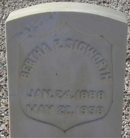 SIGWORTH, BERTHA F. - Maricopa County, Arizona | BERTHA F. SIGWORTH - Arizona Gravestone Photos