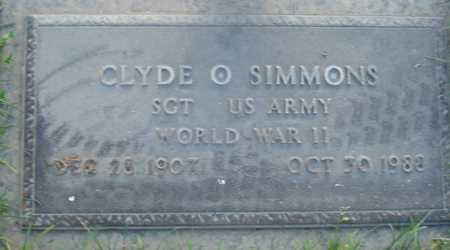 SIMMONS, CLYDE O - Maricopa County, Arizona | CLYDE O SIMMONS - Arizona Gravestone Photos