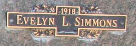 SIMMONS, EVELYN L - Maricopa County, Arizona | EVELYN L SIMMONS - Arizona Gravestone Photos