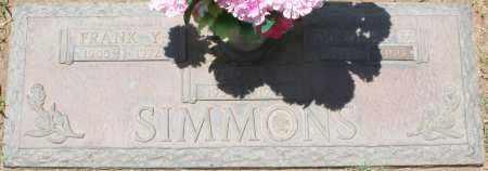 SIMMONS, FRANK Y. - Maricopa County, Arizona   FRANK Y. SIMMONS - Arizona Gravestone Photos